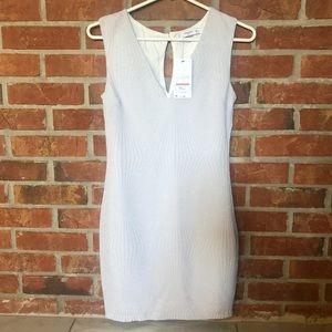 Mango 439Cerezo White Cocktail Textured Mini Dress